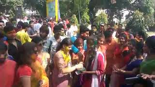 HOLI UTSAB CELEBRSTION BY MOUSAM BENJIR NUR WITH MALDA COLLEGE STUDENT