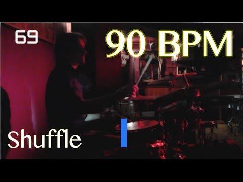 90 BPM Shuffle Beat - Drum Track