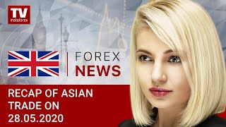 InstaForex tv news: 28.05.2020: USD gains momentum amid US-China conflict: outlook for USD/JPY, AUD/USD