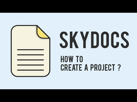 SkyDocs : How to create a project ?