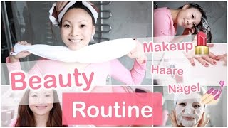 BEAUTY ROUTINE - MAKEUP, HAARE, NÄGEL | Mamiseelen