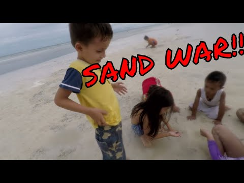 FUNNY FIL-AM Kids SAND FIGHT at the BEACH! [Anda, Bohol Philippines]