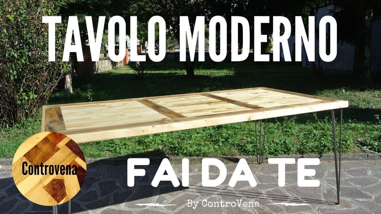 Come realizzare un tavolo con materiali a costo zero fai da te youtube - Tavolo a muro fai da te ...