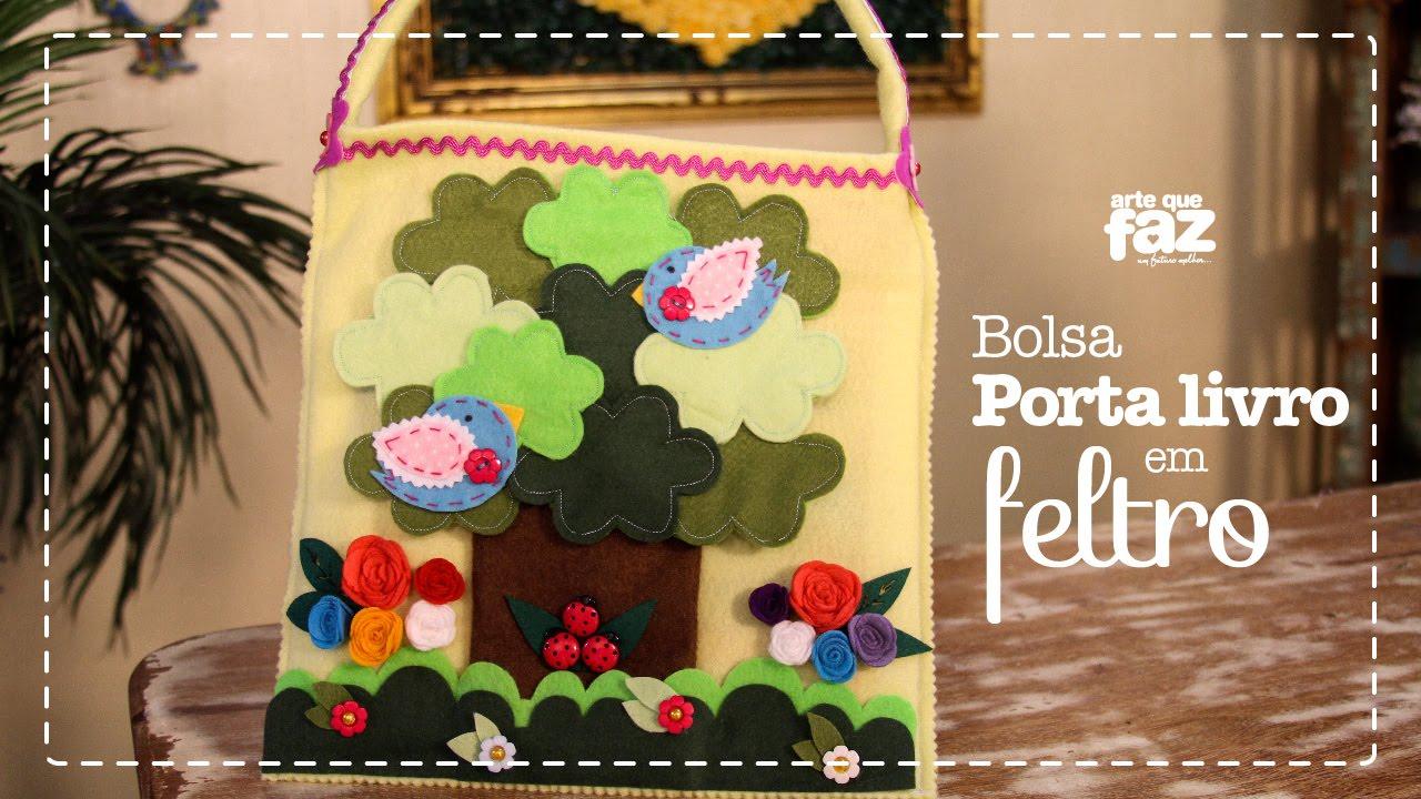 Bolsa De Festa De Feltro : Bolsa porta livro em feltro thais padella