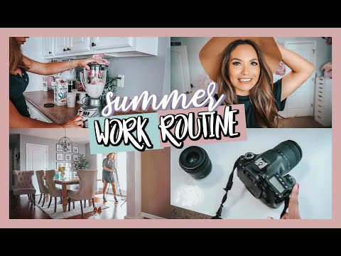 HOW I WORK FROM HOME   SUMMER WORK ROUTINE