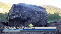 Massive rock slide closes Highway 145 indefinitely