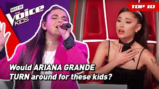 Kids singing the BEST ARIANA GRANDE songs on The Voice Kids! 🥰   Top 10