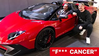 F*** CANCER, Fulfilling Kevin's BUCKET LIST RIDE in a Lamborghini *Emotional*
