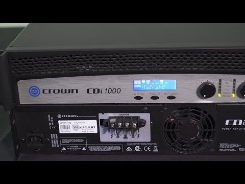TruAudio TechTip - Crown CDi DSP Presets