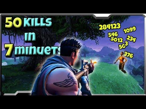 FORTNITE 50 KILLS IN 7 MINUTES (INSANE)
