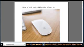 Fix Magic Mouse 2 not scrolling in Windows 10