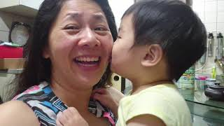 5-31-19 Playing kissing game with baby newphew  -2