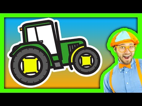 Tractor Song for Children with Blippi