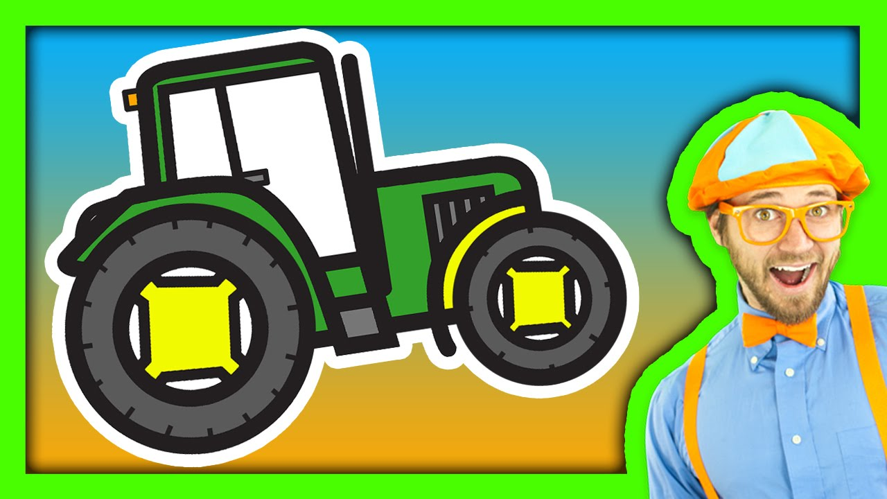 tractor song for children with blippi youtube