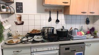 لاتغركم المظاهر تعالو شوفو مطبخي كيف بكون وراء التصوير؟روتيني بتنظيف المطبخ ! لاتغلطو غلطتي وتشتروها