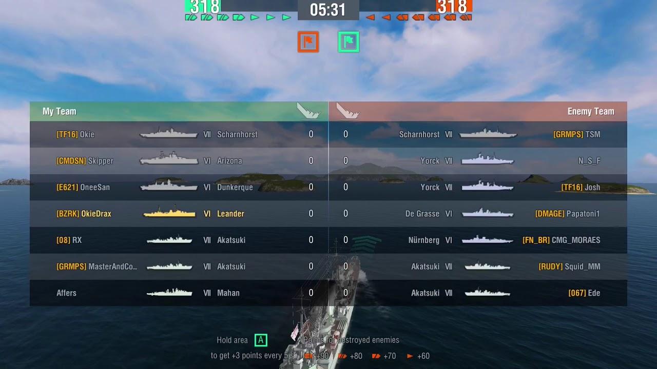 World of Warships Blitz - Leander, British Tier 6, replay