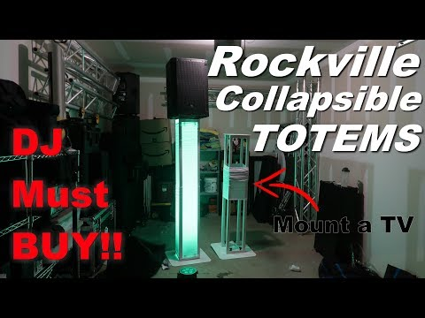 Best DJ Totem EVER!! Fully Collapsible (Review) Rockville RTP32