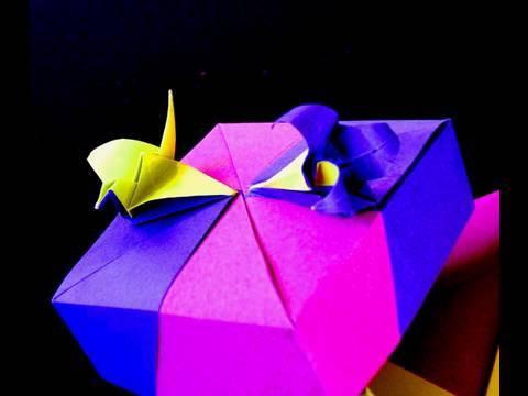 How To Make An Origami Crane Lily Box Crane Module Youtube