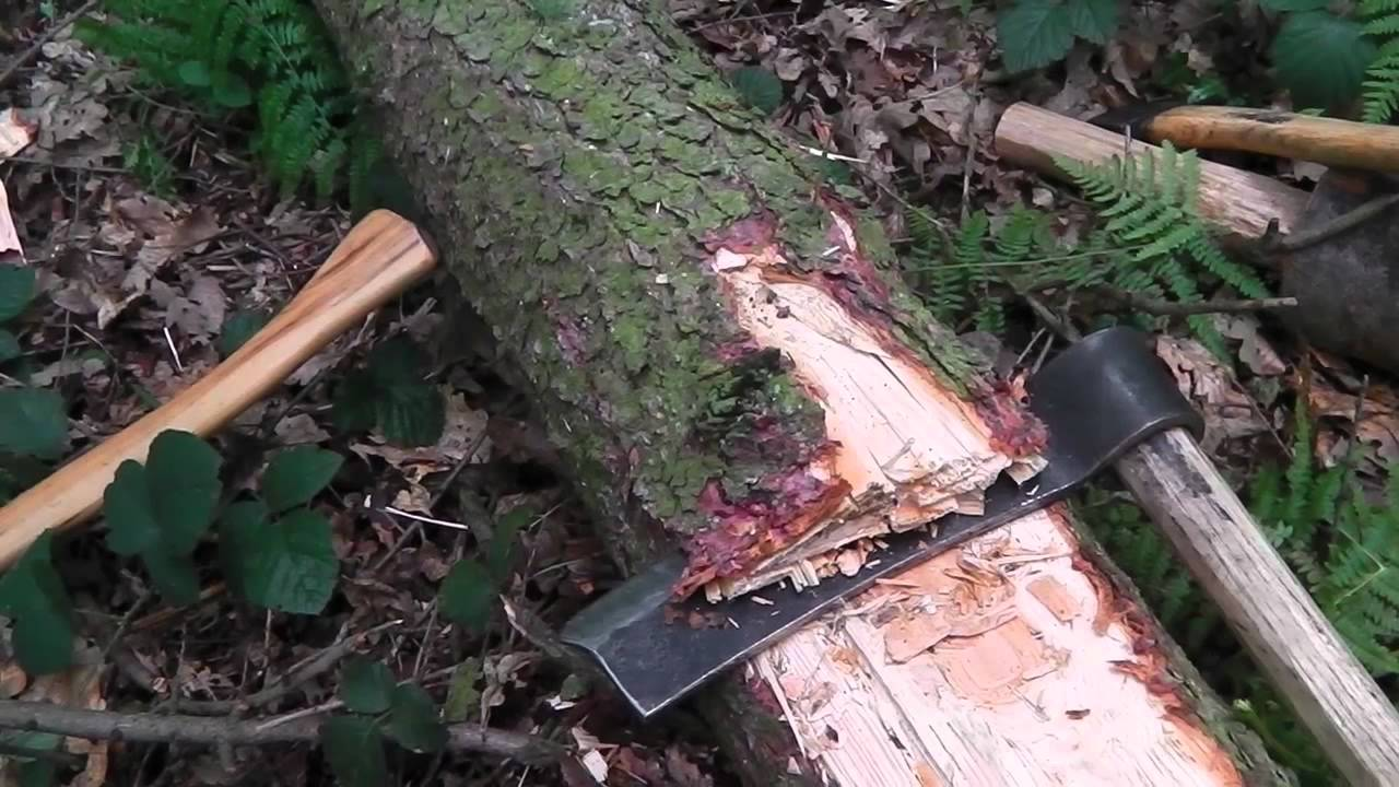 Making a beam, hewing, using froe, axe and adze
