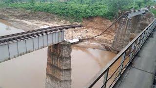 Railway bridge collapsed in Rayagada due to flo...