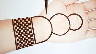 Easy and Simple Mehndi Design for Hands - Stylish Gol Tikki Mehendi Designs - Mehndi for Beginners