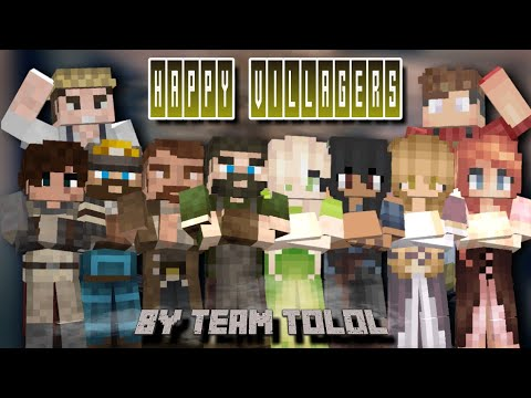 Happy Villagers - Minecraft Addon / Mod #2 | Villagers Comes Alive
