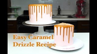 4 Ingredient Caramel Drizzle I CHELSWEETS