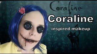 Coraline inspired halloween makeup