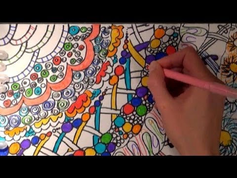 asmr drawing and coloring with markers whispering in polish