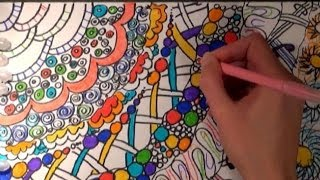 ASMR - Drawing and Coloring With Markers + Whispering in Polish