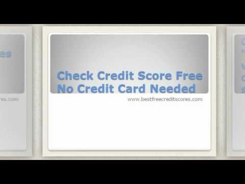 Check Credit Score Free No Credit Card Needed
