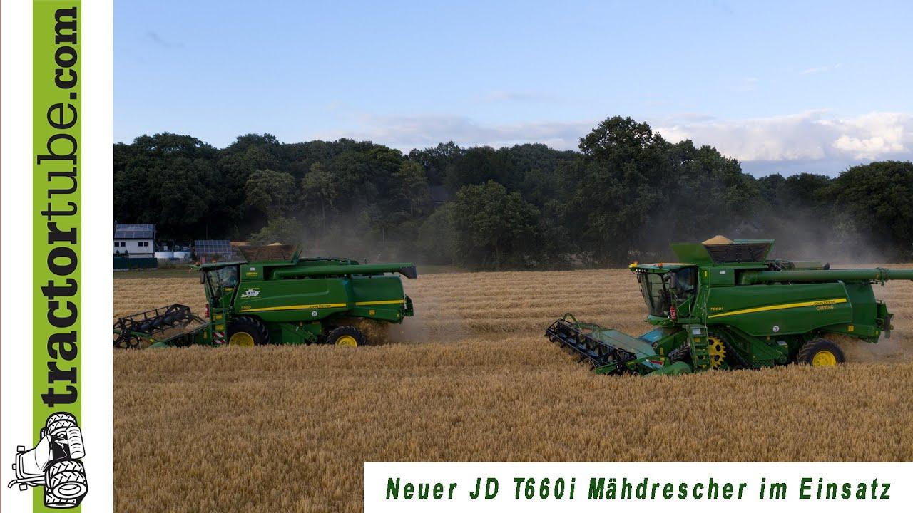 Vorstellung und Ersteinsatz des John Deere T660i Mähdreschers beim AgrarService Kühnen