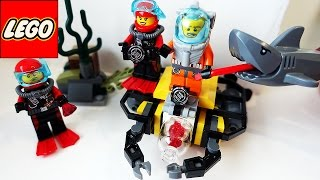 Лего Акула LEGO. Лего Акула атакует водолазов Мультик про Акулу LEGO для детей на русском Игрушки ТВ