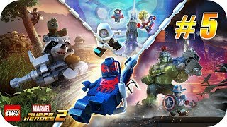 LEGO Marvel Super Heroes 2 - Gameplay Español - Capitulo 5 - Travesuras de Hydra [Xbox One X]
