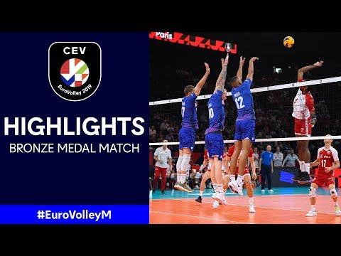 #EuroVolleyM | France - Poland | Bronze Medal Match Highlights