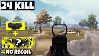 NO RECOIL THIS WEAPON with 6x SCOPE | SOLO VS SQUAD | PUBG MOBILE