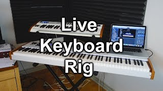 Tour of My Keyboard Live Rig (Mainstage 3, Arturia Keylab 88, Macbook Pro)