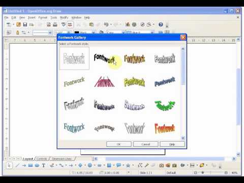 T1 Introduction To Graphic Text In Open Office Draw / Libreoffice