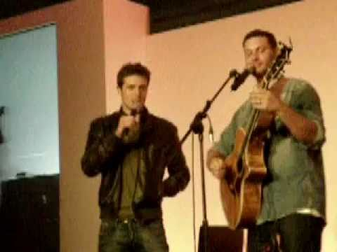 Jason Manns and Brock Kelly on Stage and us singing 'Crazy Love' at Asylum 6
