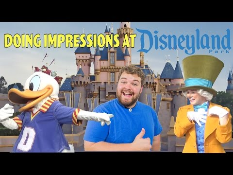doing-impressions-to-characters-at-disneyland