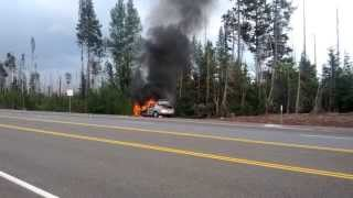Car Fire on Tombstone Pass by Hoodoo - RAW Cell Phone Footage 30 minutes