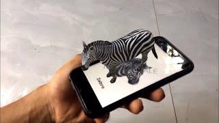 Cách xài ứng dụng Animal 4D+ tạo con vật trên màn hình điện thoại