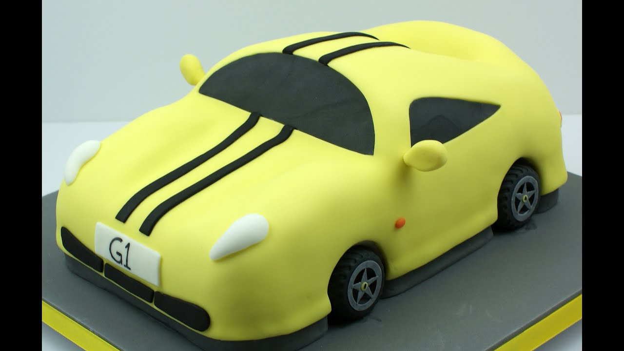 Making a Sports Car Cake - YouTube