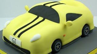 Making a Sports Car Cake
