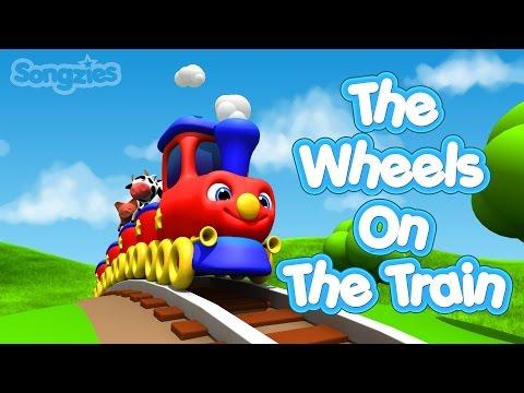 Wheels On The Train | Nursery Rhymes | Baby Songs | Kids Songs | 4K