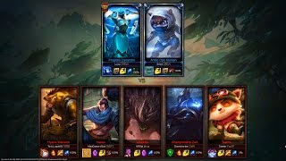 Repeat youtube video 2 Diamond players vs 5 Bronze players (2v5) - League of Legends