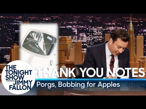 Thank You Notes: Porgs, Bobbing for Apples