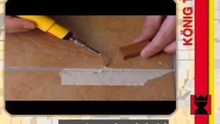 Oprava odštípnuté glazury na keramické dlažbě