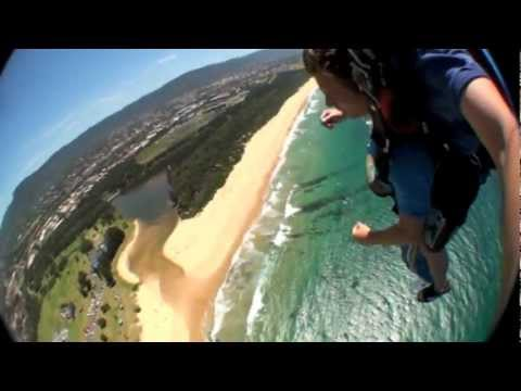 My Sky Dive in Wollongong Beach Sydney Australia!
