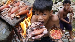 Cooking Squid Recipe And Eating Delicious
